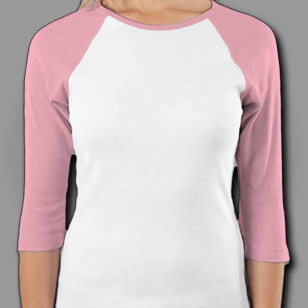 White/Pink Ladies Raglan