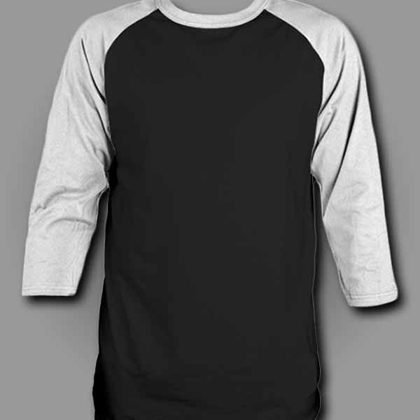 Black/White Raglan