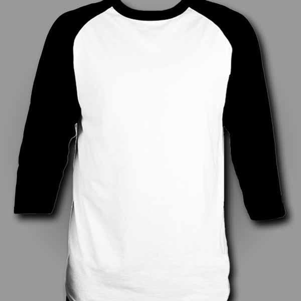 White/Black Raglan